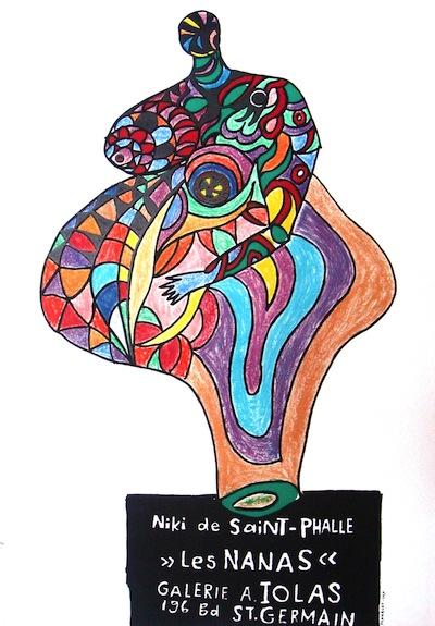 niki de saint phalle, 76,7x52, prezzo 250, 1965