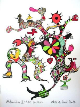 niki de saint phalle, 89x61, prezzo 350,1970